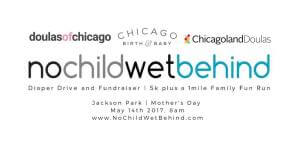No Child Wet Behind 5k Chicago registration logo