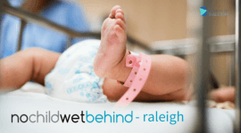 No Child Wet Behind - Raleigh registration logo