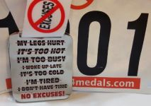 NO EXCUSES Virtual Race 2016 registration logo
