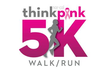 NorCal Think Pink 5k registration logo
