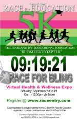 Norma E. Boyd 5K Race for Education registration logo