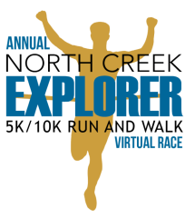 North Creek Explorer 5k/10k Run & Walk Virtual Race  registration logo