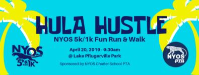 NYOS Hula Hustle - 5k/1k Fun Run & Walk registration logo