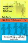 Oak Park 5k registration logo