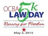 OCBA Inaugural Law Day 5k - Running for Freedom registration logo