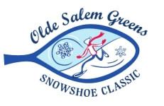 Olde Salem Greens Snow SHoe 5k registration logo