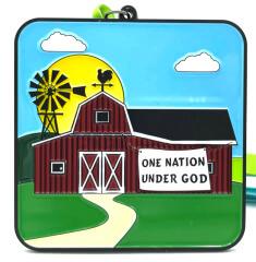 One Nation Under God 1M 5K 10K 13.1 26.2 registration logo