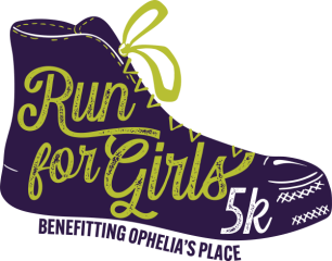 Ophelia's Place Run for Girls Virtual 5k registration logo