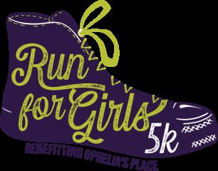 Ophelia's Place Run for Girls Virtual 5k registration logo