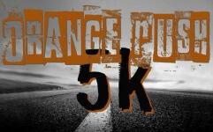 OrangeRush5k registration logo