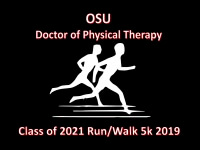 OSU Doctor of Physical Therapy Class of 2021 5k registration logo