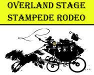 Overland Stage Stampede Rodeo registration logo