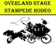 Overland Stage Stampede Rodeo registration logo