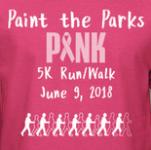 Paint the Parks Pink 5K registration logo