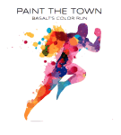 Paint The Town - Basalt's 5K registration logo