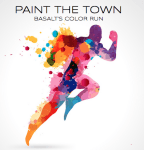 Paint The Town - Basalt's Color Run registration logo