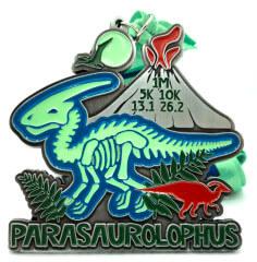 Parasaurolophus 1M 5K 10K 13.1 26.2 registration logo