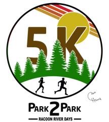 Park2Park 5k fun run registration logo