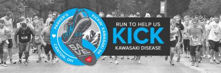 Parker's Kickin' Kawasaki 5K - Canton, OH registration logo