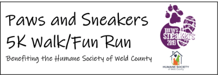 Paws and Sneakers 5K registration logo