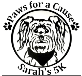 Paws for a Cause Sarah's 5K and Fun Run registration logo