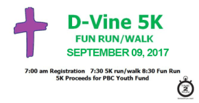 PBC D-Vine 5K registration logo