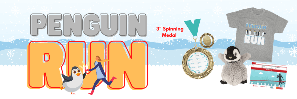 Penguin Run Virtual Race 2021 registration logo