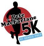 Pete MacFarlane 5K Run at Sandia Prep registration logo