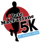 Pete MacFarlane 5K Run at Sandia Prep registration logo