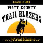 Piatt County Trail Blazers 66th Annual Rodeo registration logo