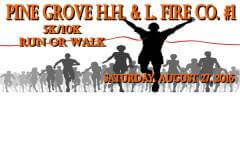 Pine Grove HH & L Fire Co. 5k/10k Run or Walk registration logo