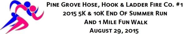Pine Grove HH&L Fire Co 5k or 10k Run registration logo