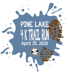 Pine Lake 4K Trail Run - Lake Walk - Kids Fun Run registration logo
