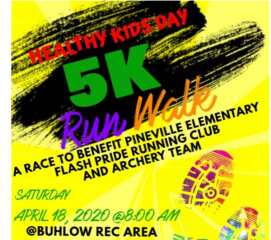 Pineville Elementary Healthy Kids Day 5K registration logo