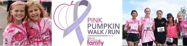 Pink Pumpkin 5K Walk/ Run registration logo