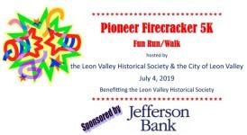 Pioneer Firecracker 5k registration logo