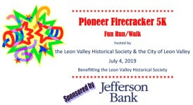 Pioneer Firecracker 5k registration logo