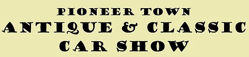 Pioneer Town Antique & Classic Car Show registration logo