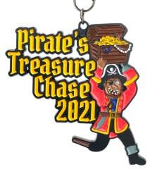 Pirates Treasure Chase 1M 5K 10K 13.1 26.2 registration logo