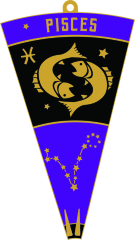 PISCES - Zodiac Series 1M 5K 10K 13.1 26.2 50K 50M 100K 100M registration logo
