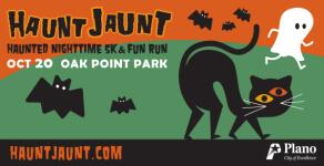 Plano Haunt Jaunt Nighttime 5K and 1-Mile Fun Run registration logo