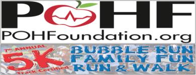 POHF's 7th Annual 5K Bubble Run & Walk registration logo