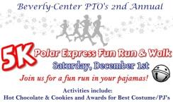 Polar Express Fun Run and Walk registration logo