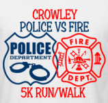 Crowley Police vs. Fire 5K Run/Walk registration logo