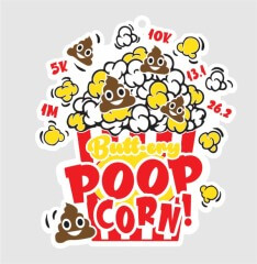 Poop Happens 1Mile 5K 10K 13.1 and 26.2 registration logo