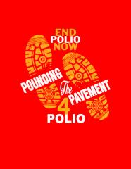 Pounding the Pavement for Polio Virtual Run/Walk registration logo