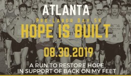 Pre-Labor Day Atlanta 5K Hope is Built registration logo