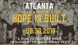 Pre-Labor Day Atlanta 5K Hope is Built registration logo