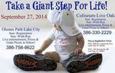 Pregnancy Care Center Walk 4 Life walk/run 5k registration logo