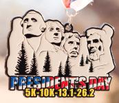 President's Day 5K, 10K, 13.1, 26.2 registration logo